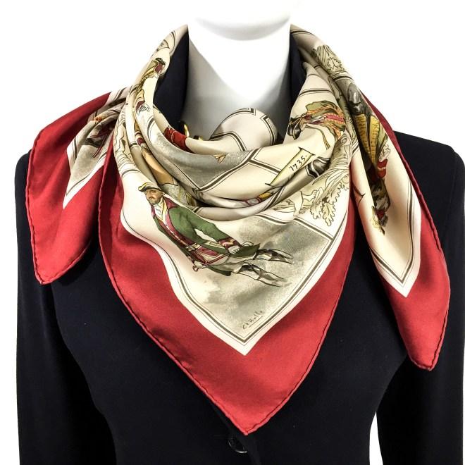 Hermes Silk Scarf La Tenue de Venerie RARE-14