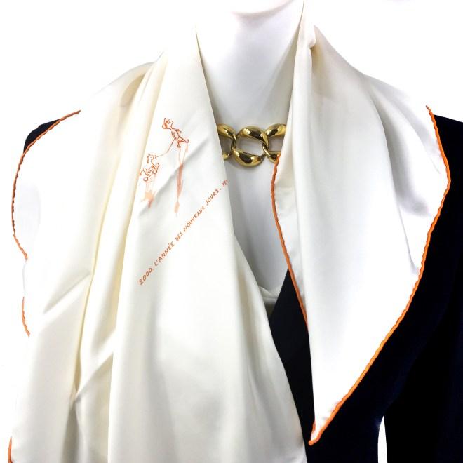 Special Edition 2000 L'Annee des Nouveaux Jours Hermes Silk Scarf Nuba Mountain-2