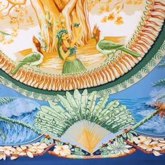 Hermes Silk Scarf Aloha Blue-4