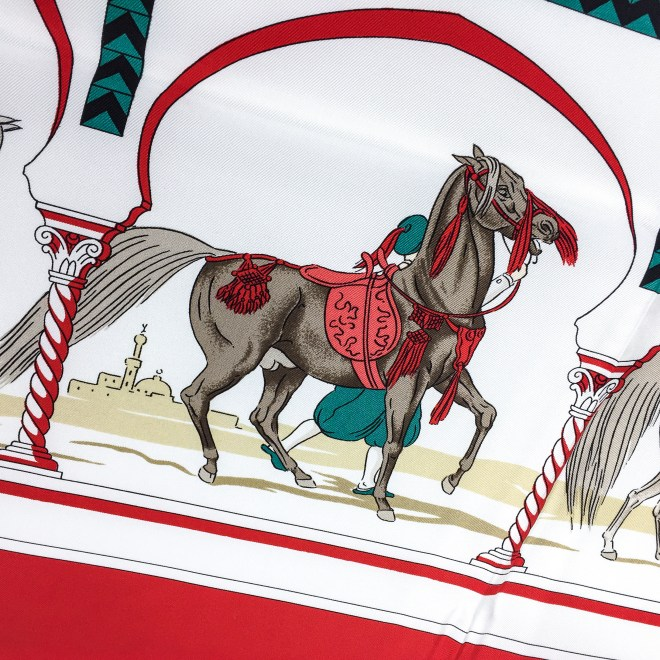 Hermes Silk Scarf Chevaux Arabes Special Issue-11