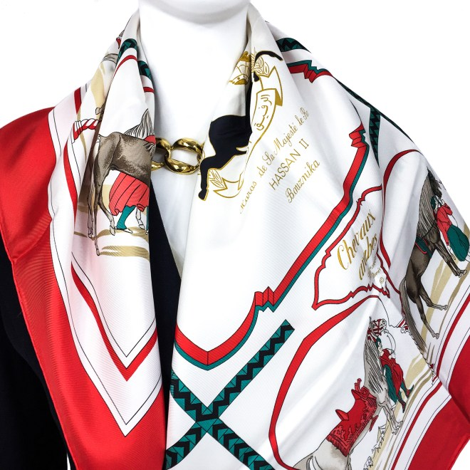 Hermes Silk Scarf Chevaux Arabes Special Issue-2
