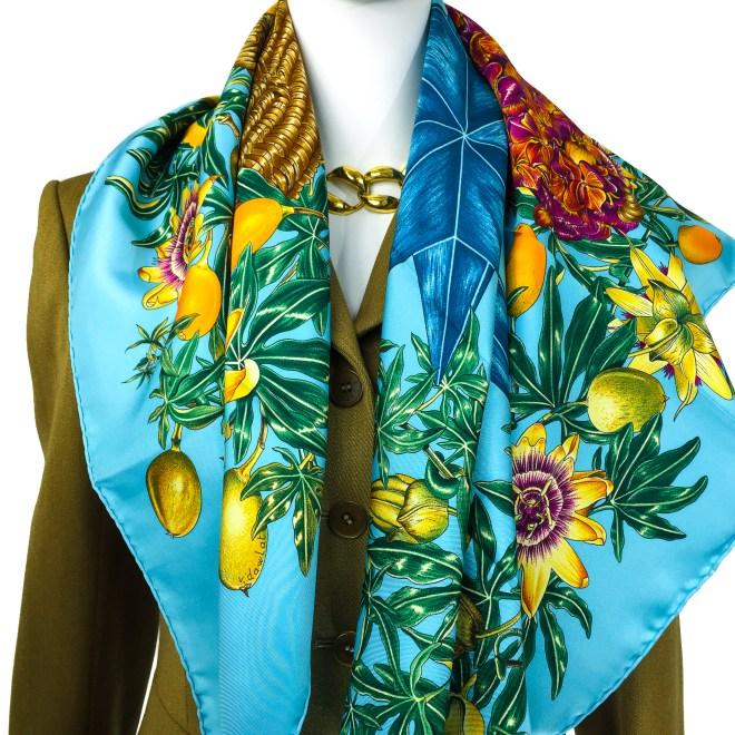 Hermes Silk Scarf Passiflores Turquoise UNWORN-13.jpg