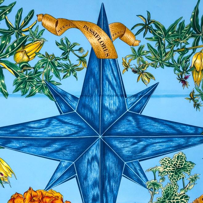 Hermes Silk Scarf Passiflores Turquoise UNWORN-6