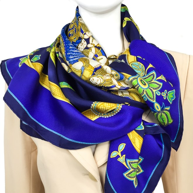 Hermes Silk Scarf India-10