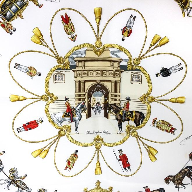 Hermes Silk Scarf The Royal News - Buckingham Palace RARE-2