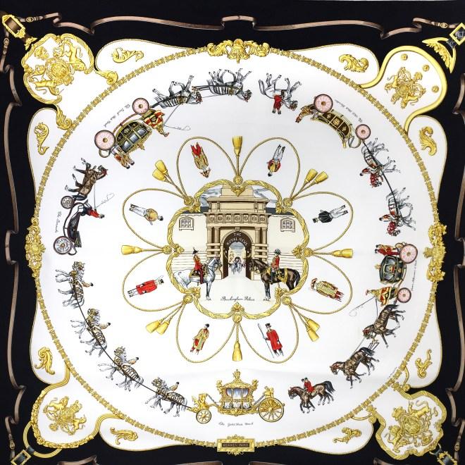 Hermes Silk Scarf The Royal News - Buckingham Palace RARE