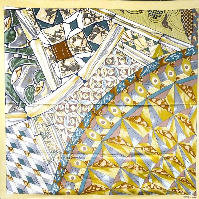 Hermes Silk Scarf Trophees de Venise II RARE