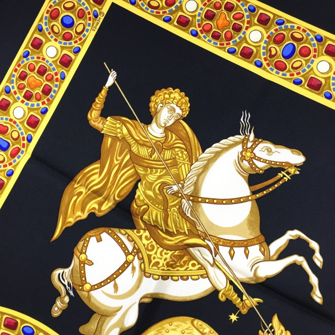 Hermes Le Triomphe du Paladin Silk Scarf_-10