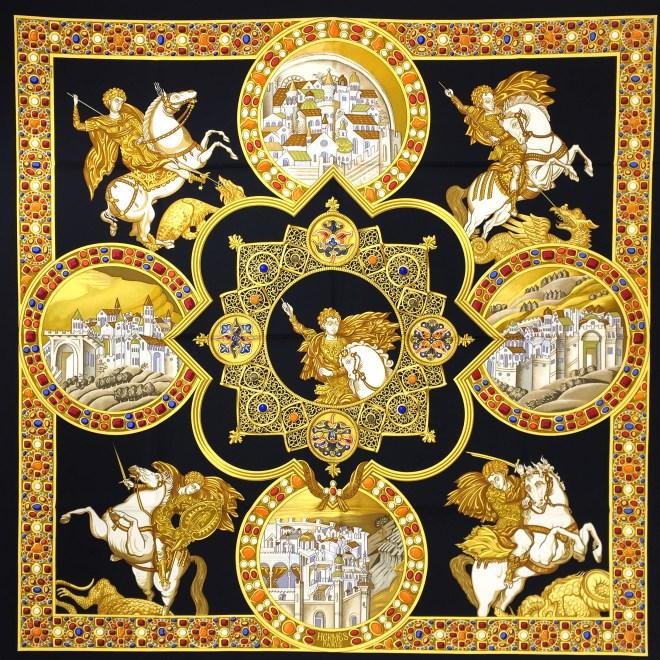 Hermes Le Triomphe du Paladin Silk Scarf_-2