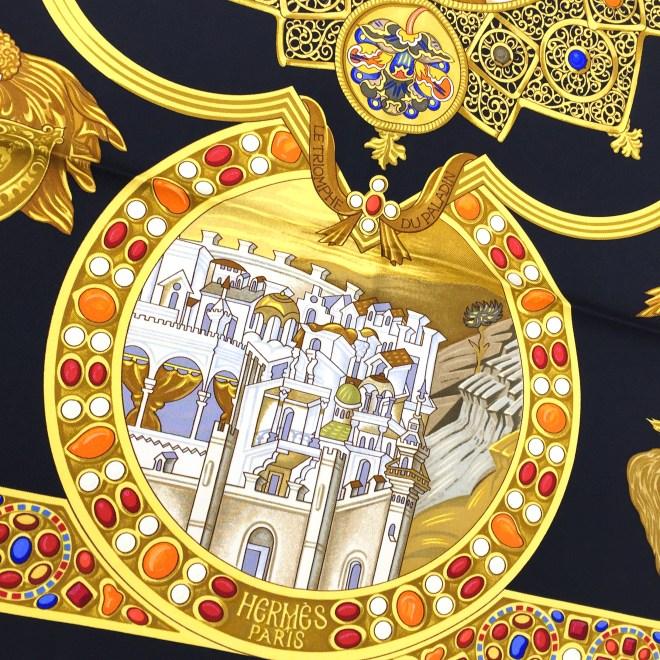 Hermes Le Triomphe du Paladin Silk Scarf_-4