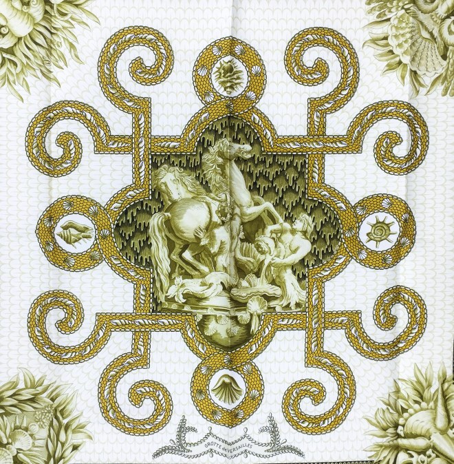 Hermes Silk Scarf Grotte de Versailles-2