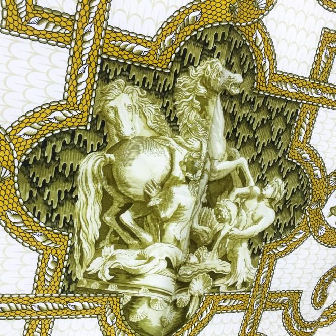 Hermes Silk Scarf Grotte de Versailles-4