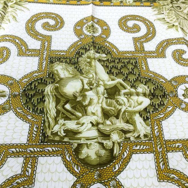 Hermes Silk Scarf Grotte de Versailles-8