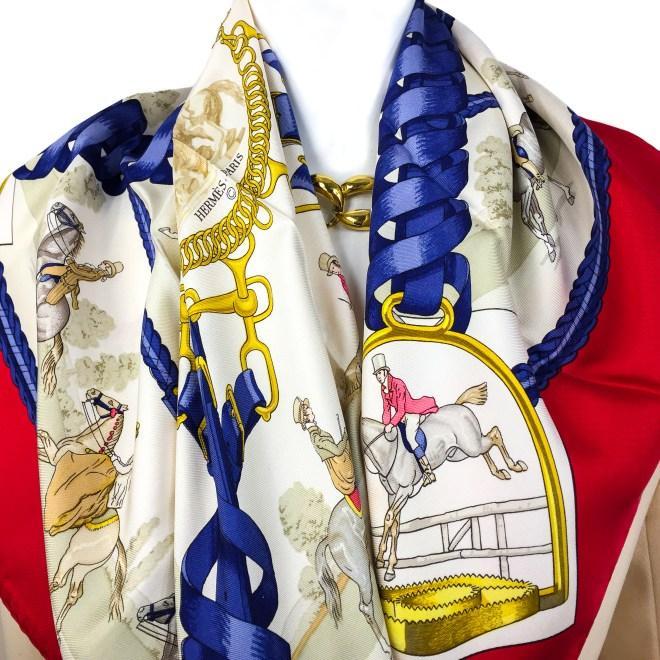 Hermes Silk Scarf Les Allures du Cheval VTG-9.jpg