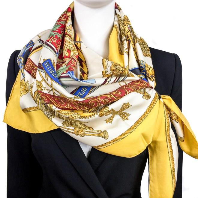 Hermes Silk Scarf Queens Jubilee-6
