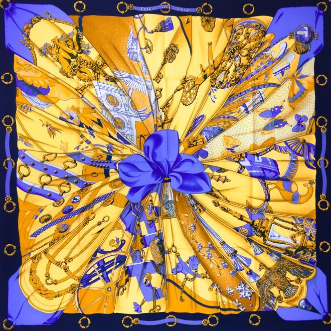 Hermes Silk Scarf Soleil de Soie UNWORN-4