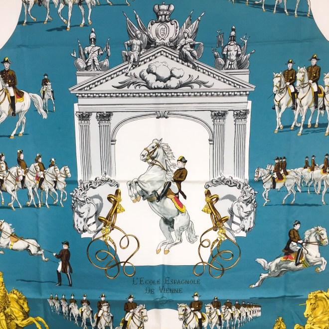 Hermes Silk Scarf L'Ecole Espagnole de Vienne-2
