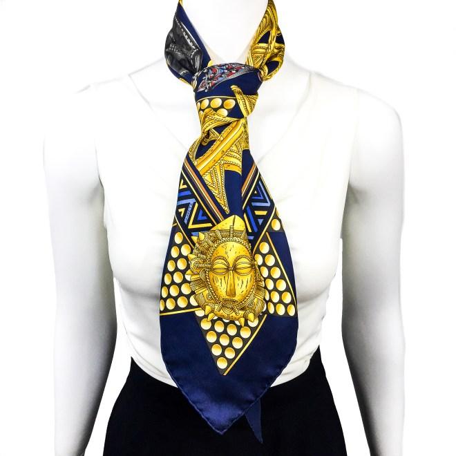 Hermes Silk Scarf L'Or des Chefs-16