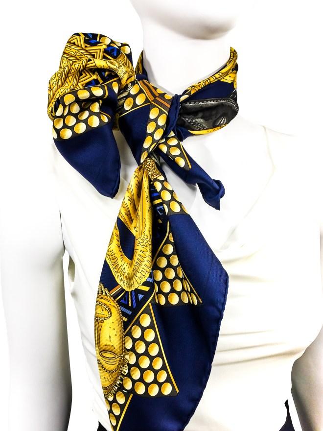 Hermes Silk Scarf L'Or des Chefs-8