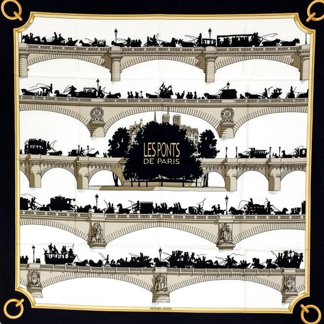 Hermes Silk Scarf Les Ponts de Paris Black NIB-3.jpg