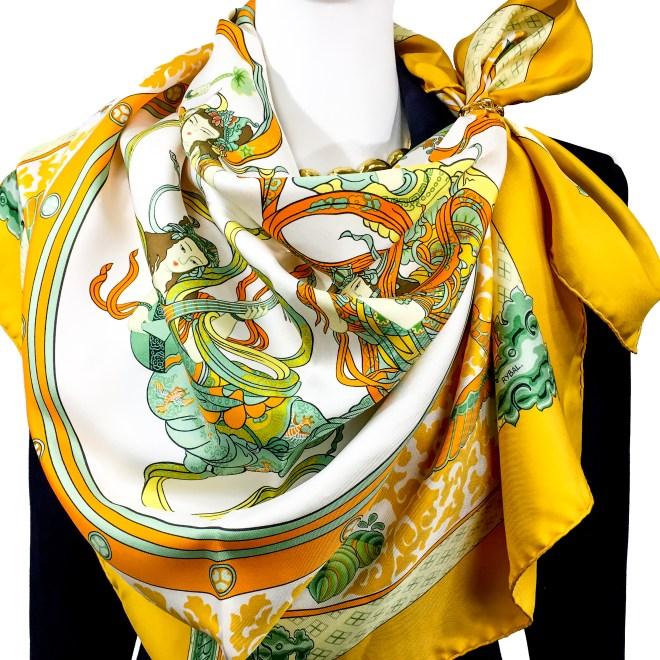 Hermes Silk Scarf Nikko-13