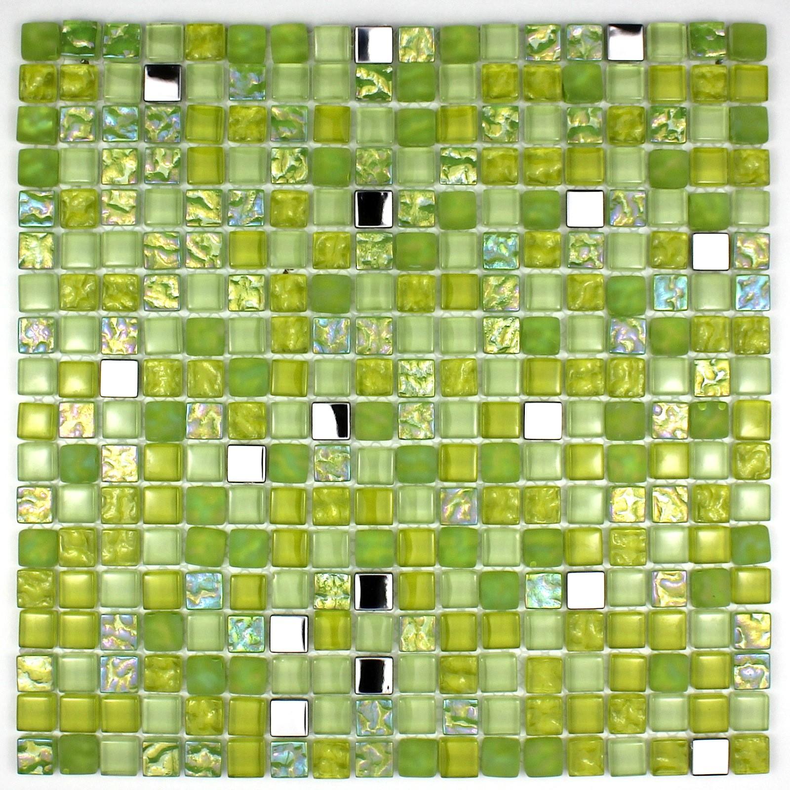 Credence Verre Mosaique Verre Douche Harris Vert Carrelage Inox Fr