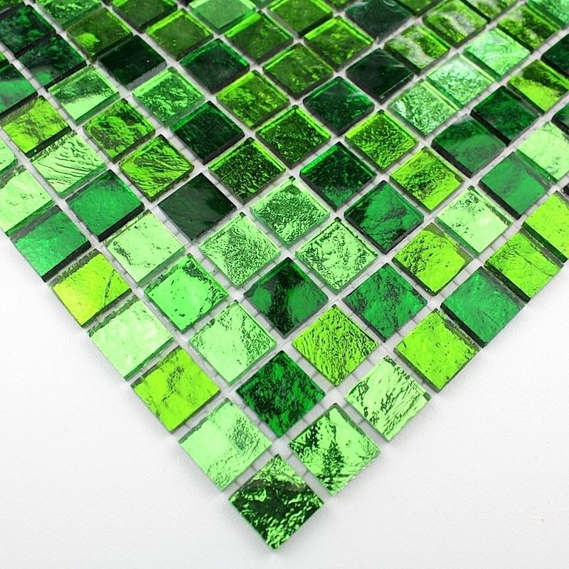 mosaique de verre carrelage vert sol et