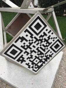 QR code en pierre de lave émaillée Nice Lycée Massena