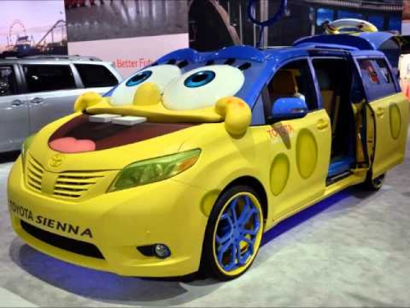 New Release Cars 2016 2016 Toyota Sienna Spongebob Squarepants Design At La Auto Show