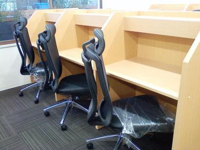自習室用学習机 設置例