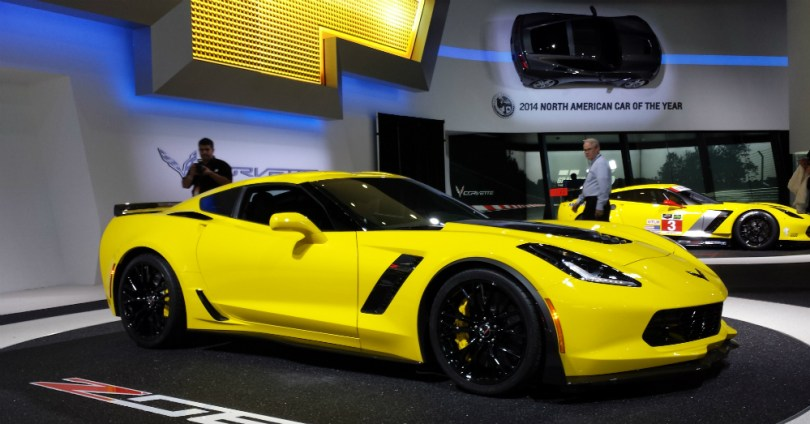 Yellow Chevrolet Corvette Z06