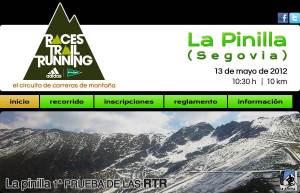 Races Trail Running 2012 La Pinilla información