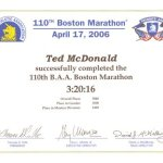 Barefoot Ted en Maraton Boston 2006