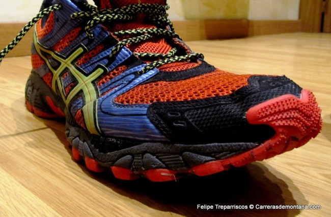 objetivo limpiar constantemente  Zapatillas Asics Trail Running: Asics Gel Fuji Trainer (312gr/95€/6mm drop)  Análisis y prueba 200km rodajes trail por Felipe Rodríguez Nuero