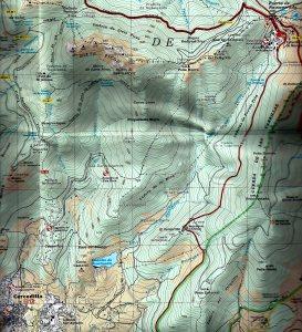 Rutas Sierra Madrid: Panorámica Cercedilla a Senda Herreros. (Mapa: Ed. Alpina)