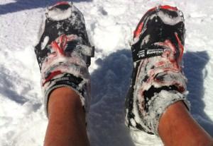 Trail Montaña: Crampones de trail Ice traction para corredores de montaña.