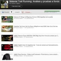 Material Trail Running Videos análisis y pruebas campo Mayayo