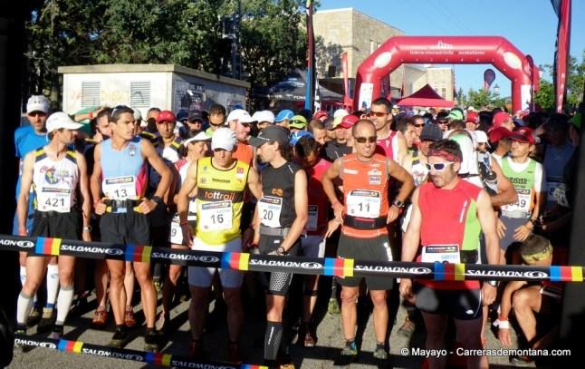 Santi Obaya en la salida del Maraton Alpino Madrileño 2012