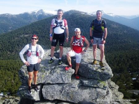 Entrenamiento ultra trail: Cima La Peñota con Aitor Leal, John Tidd, Luis Alonso y Julián.