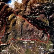 Maliciosa Rutas Sierra Madrid Circuito trail desde Navacerrrada pueblo