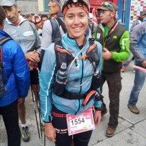 Teresa Nimes en la salida Ultra Trail Mont Blanc 2012