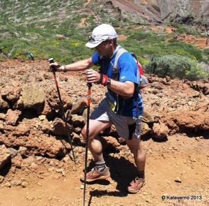 Brooks Cascadia 8 en Transvulcania. Llegando al 50k en Roque de los Muchachos (2.426m)