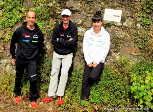 Land Race Team en Zegama: Oscar Casal, Santi  Obaya y Sara García Boix.