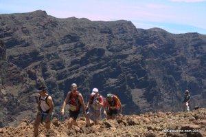 Transvulcania 2013: Corremontes populares llegando al Roque de los Muchachos
