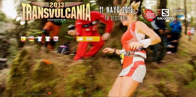Anna Frost: 1ª Transvulcania 2012 y cartel de la siguiente edición.