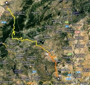 100 km madrid segovia 2013 Mapa de carrera