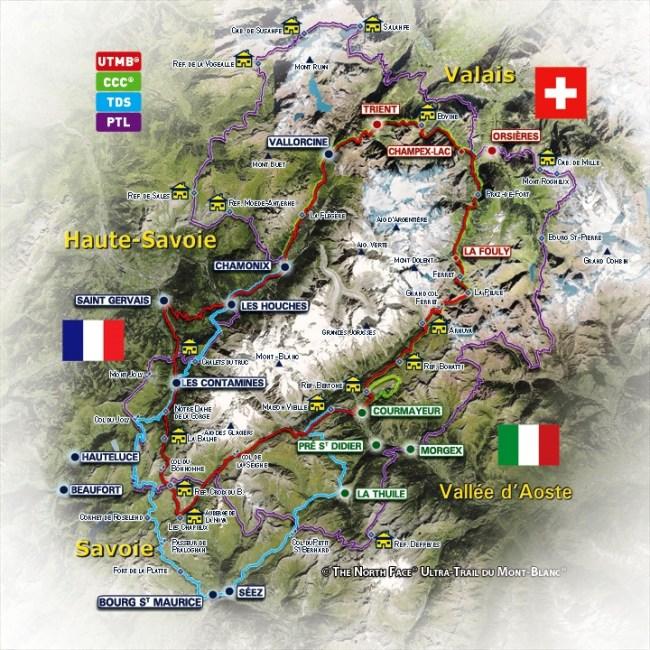 Ultra trail de mont blanc 2013 Recorridos