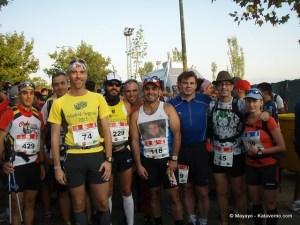 Carlos Micra con amigos de Los Paquetes en la Madrid -Segovia 2011