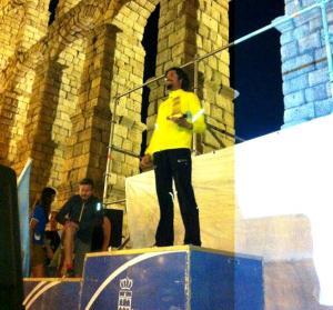 Carlos Micra en el podio de la Madrid -Segovia 2012