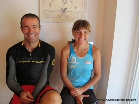 Entrevista a Nerea Martínez y Pablo Criado en Courmayeur. Foto: Mayayo.
